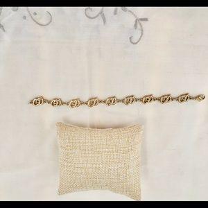 "Rare Christian Dior CD Gold Bracelet 7"""